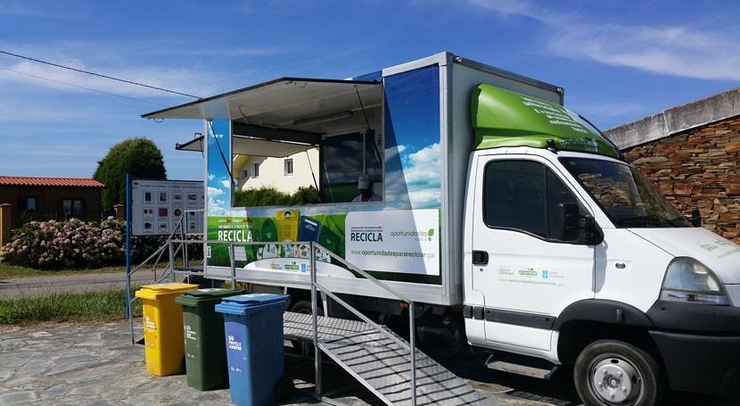 Arranca Baiona nueva fase campaña reciclaje Pontevedra