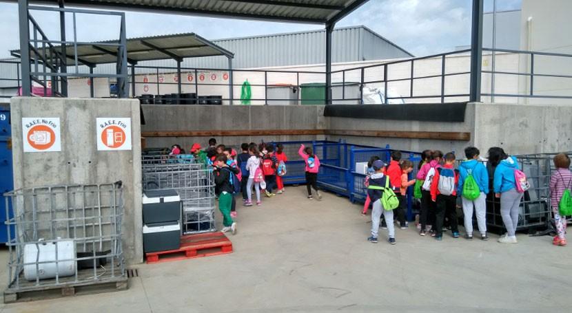 Alumnos primaria participan clases prácticas reciclaje residuos Badajoz
