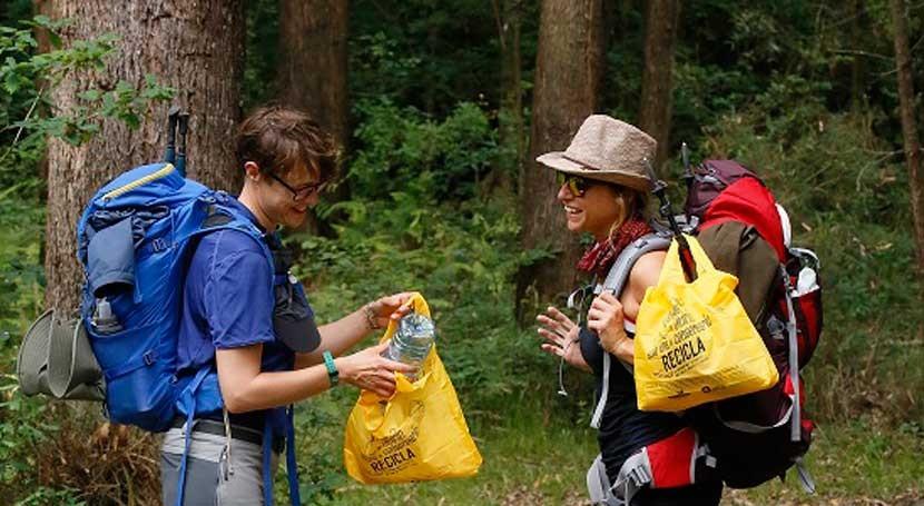 """""""Camino Reciclaje"""", sendero reciclaje peregrinos Camino Santiago"""