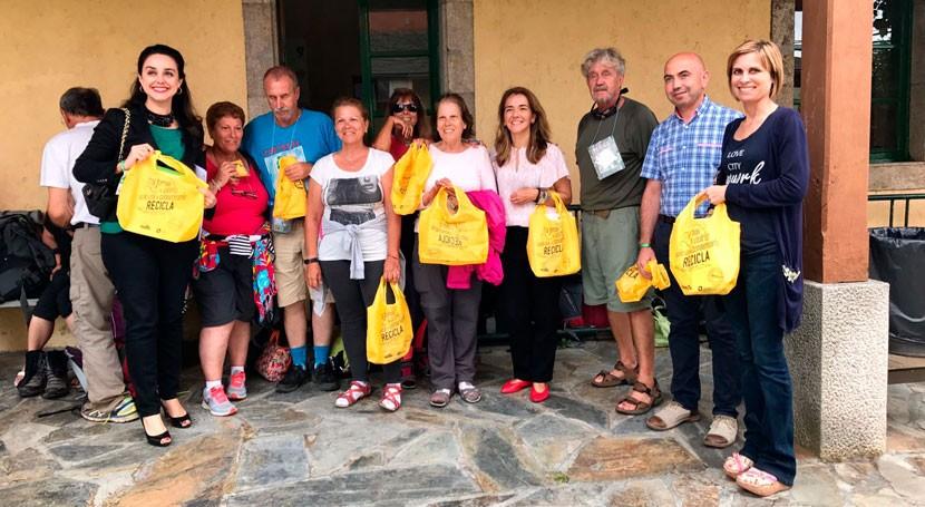 reciclaje también es protagonista Camino Santiago