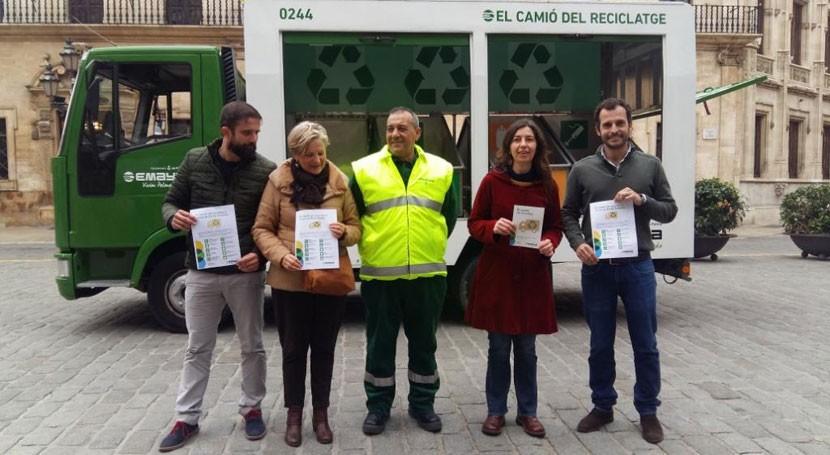marcha camión reciclaje recoger residuos especiales Palma Mallorca