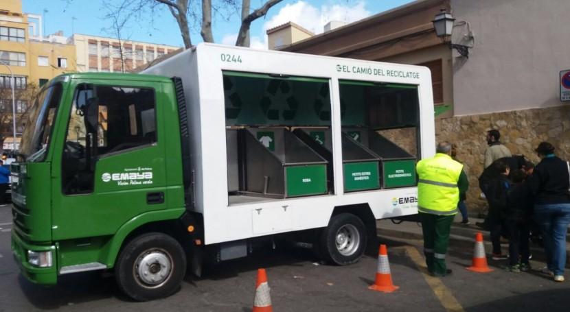 2.000 vecinos de Palma hacen uso del camión del reciclaje desde su ...