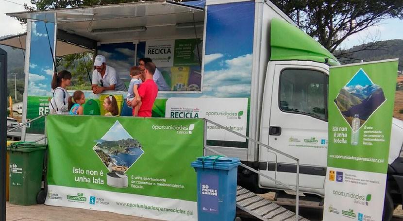 vistantes Sanxenxo, Illa, Vilagarcía y Vilanova Arousa son instruidos reciclaje
