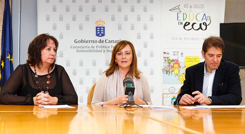 Canarias impulsa reciclaje centros educativos 'Red Colegios EducaEnEco'