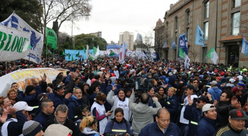 Movilizaciones solicitar continuidad sistema gestión cartón Buenos Aires