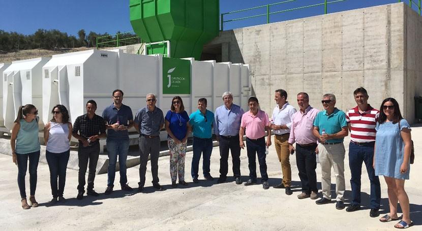 Cazorla estrena tercera planta depósito y reciclaje escombros Jaén