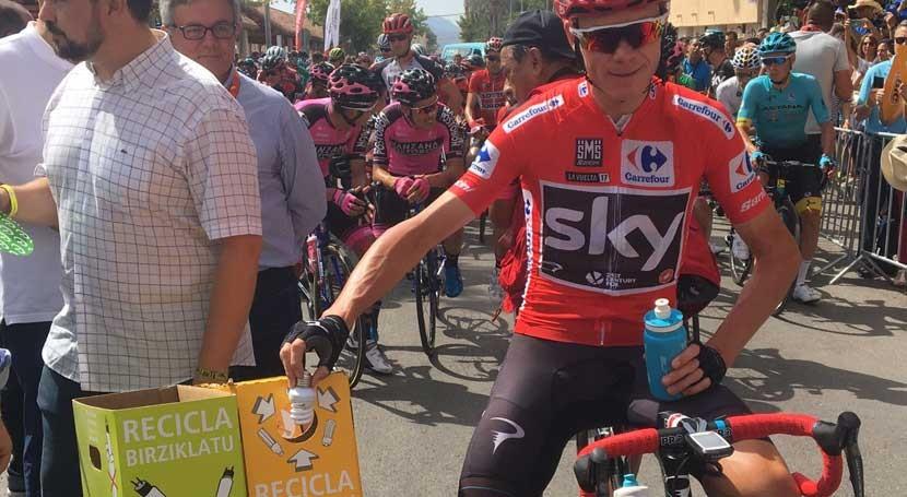 ganador Vuelta Ciclista, Chris Froome, también recicla AMBILAMP