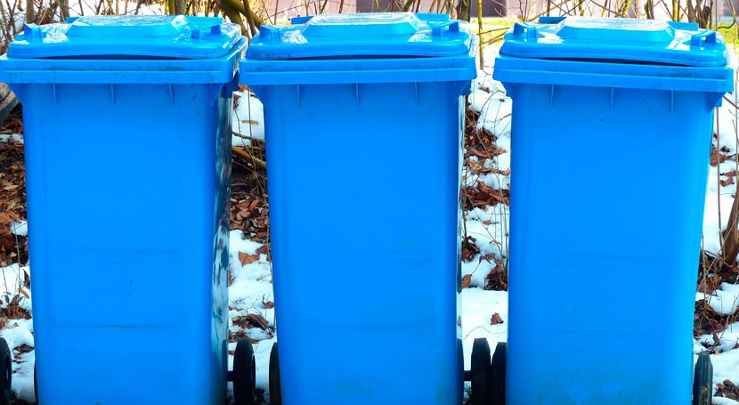 contenedor azul y iglú verde, esenciales sistema recogida selectiva