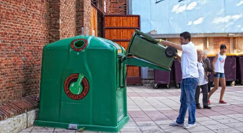 reciclaje vidrio España crece 9% 2018, mayor incremento última década