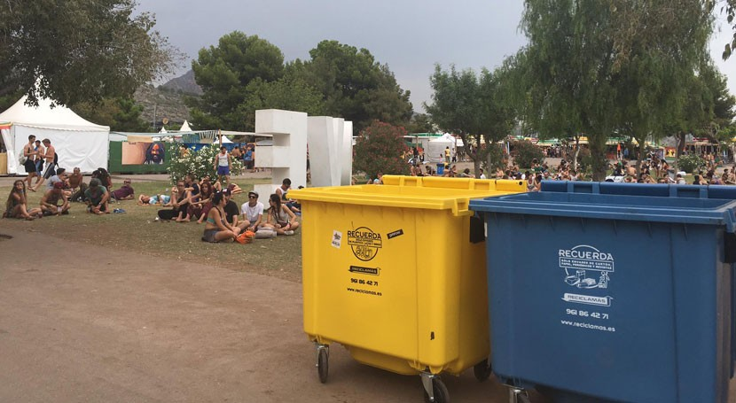 festivales Comunidad Valenciana apuestan reciclaje vidrio
