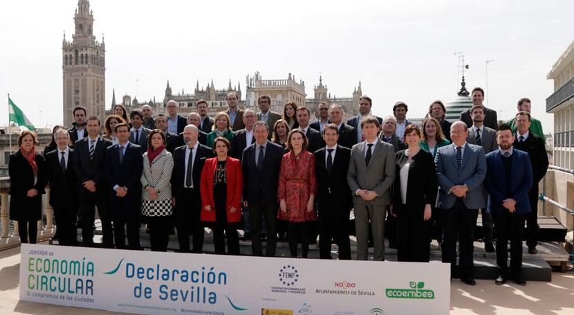 60 ayuntamientos españoles y europeos apoyan Declaración Sevilla economía circular