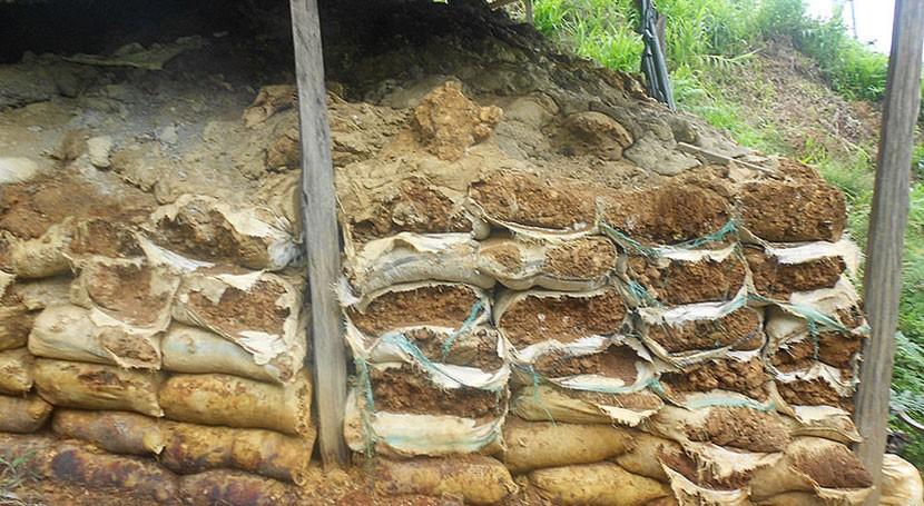 Desechos mineros como materiales construcción contaminar