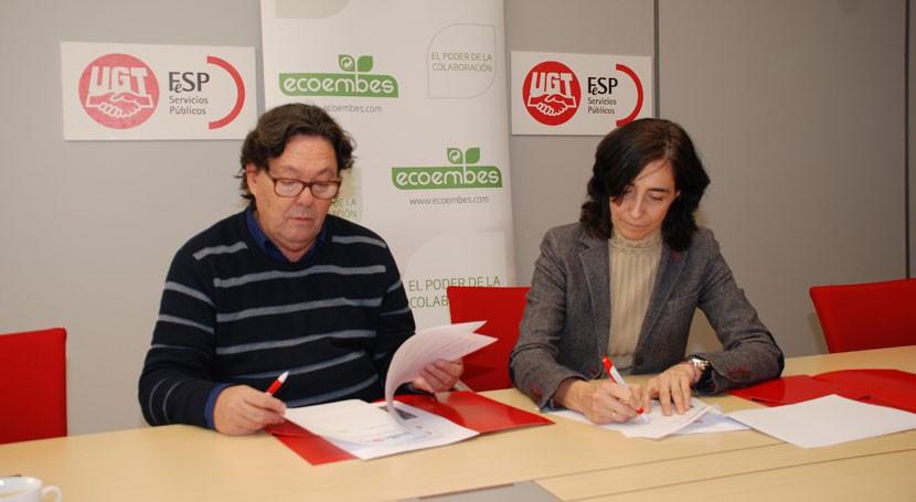 Promover protección medio ambiente, objetivo colaboración Ecoembes y FeSP-UGT