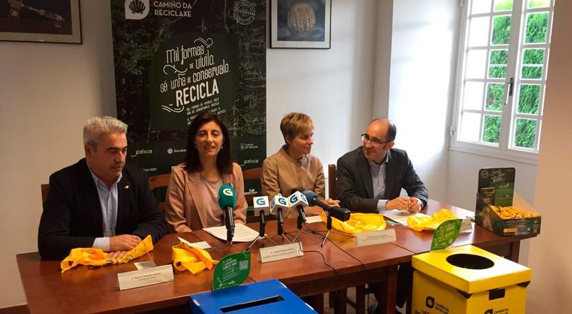 Xunta Galicia y Ecoembes impulsan Camino Santiago concienciado reciclaje