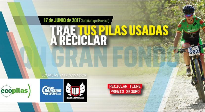 Ecopilas promueve reciclaje pilas Quebrantahuesos, prueba ciclismo Aragón