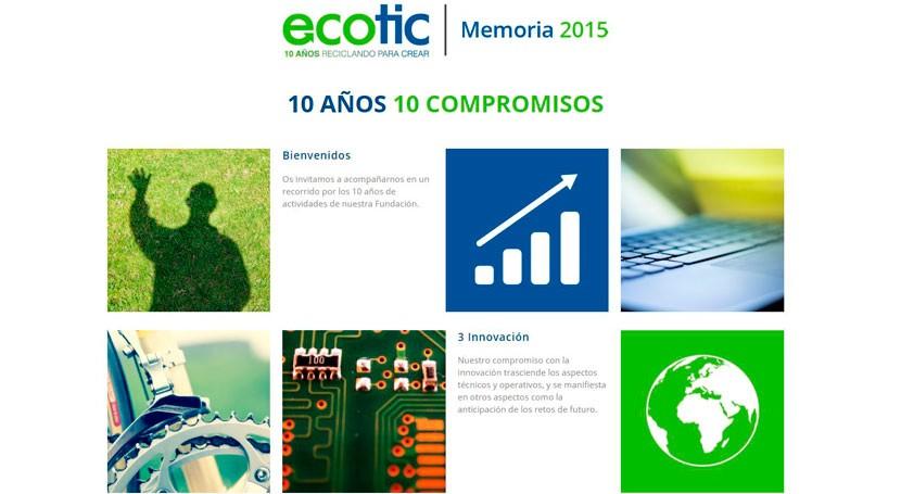 Ecotic recoge 10 primeros años actividad Memoria 2015