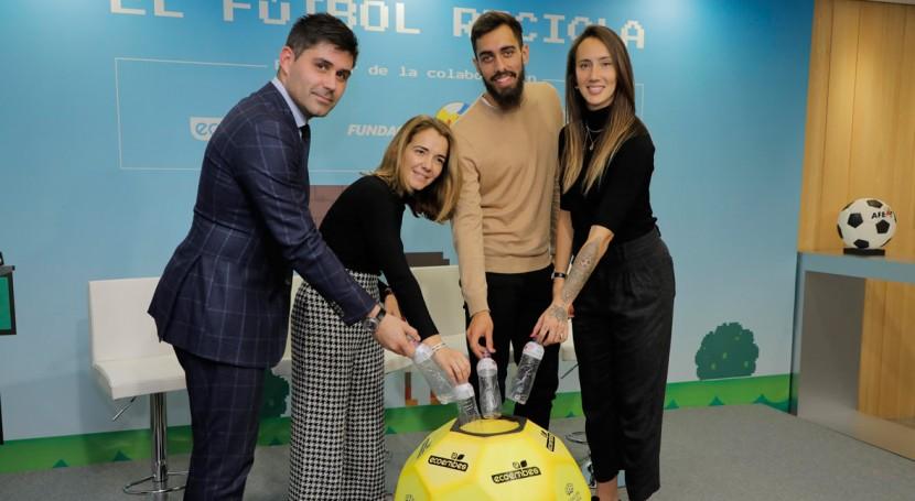 Fútbol y reciclaje unen fuerzas campaña Fundación AFE, Fundación Reina Sofía y Ecoembes
