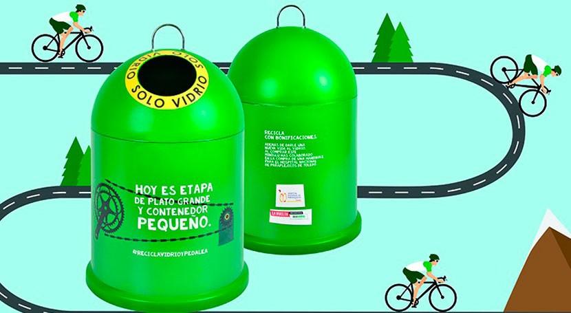 reciclaje vidrio va ruedas