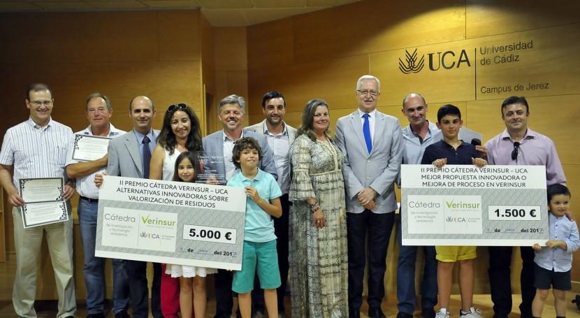 Acto entrega II edición premios Cátedra Verinsur–UCA