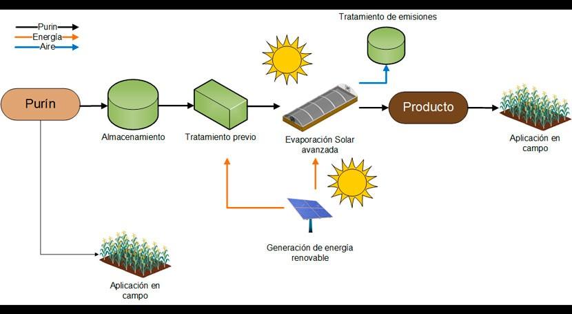 ¿Cómo emplear evaporación solar gestión purines?