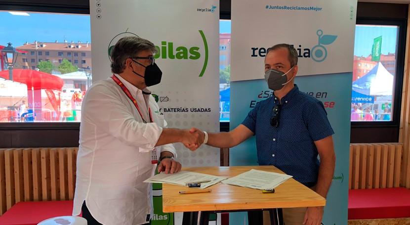 Ecopilas y AMBE renuevan acuerdo incrementar reciclaje baterías bicicletas