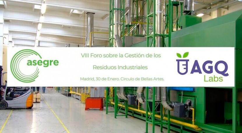 AGQ Labs Medio Ambiente patrocina VIII Foro Residuos Industriales