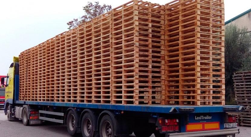 Francia reutiliza 50% palet madera