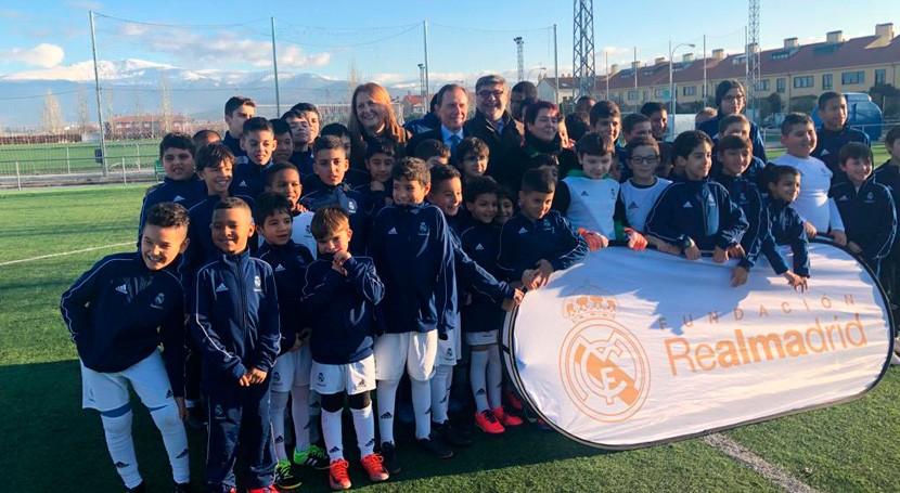 Ecopilas renueva acuerdo colaboración Fundación Real Madrid y Ayuntamiento Segovia