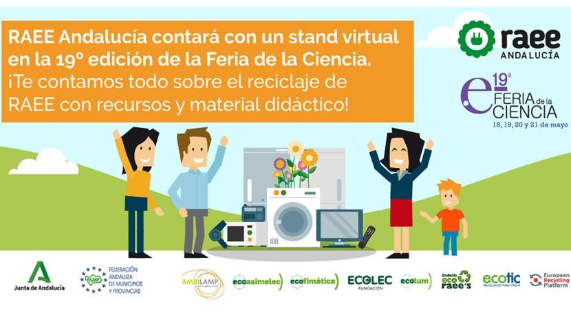 RAEE Andalucía participa segundo año consecutivo 19ª Feria Ciencia