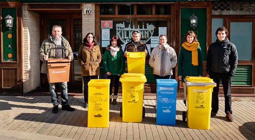 marcha proyecto reciclaje establecimientos hostelería Valdizarbe
