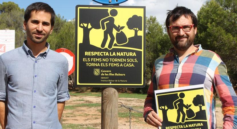 Baleares retira contenedores áreas recreativas y lanza campaña concienciación