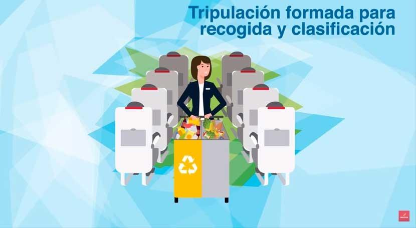 Iberia comienza implantar reciclaje residuos vuelos