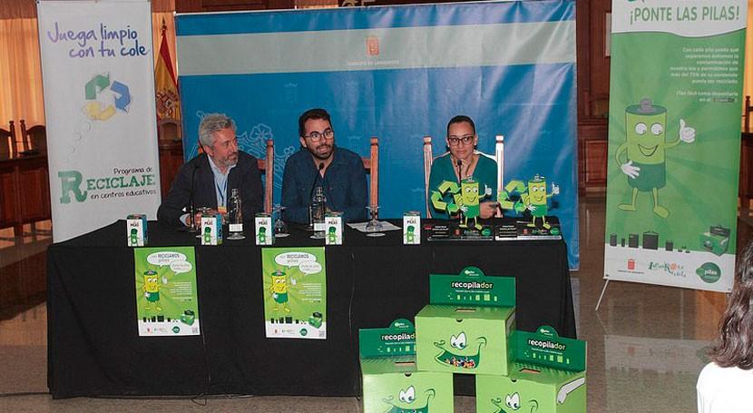 Escolares Lanzarote reciclan 89.000 pilas usadas Ecopilas