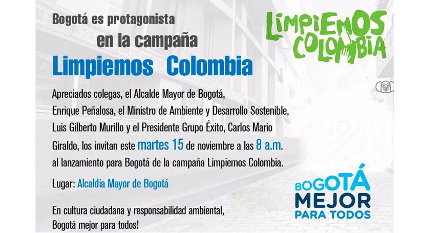 Bogotá, lista gran jornada Limpiemos Colombia