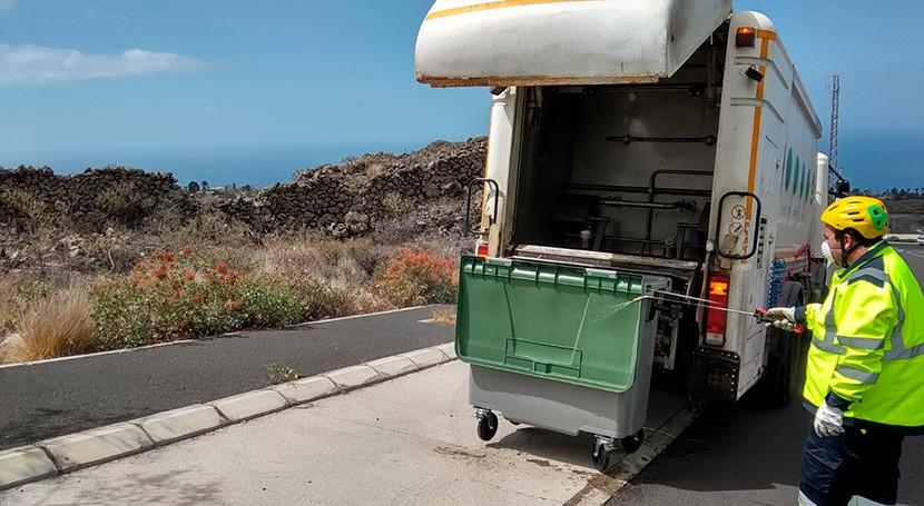 CSLP refuerza servicio lavado contenedores combatir expansión COVID-19