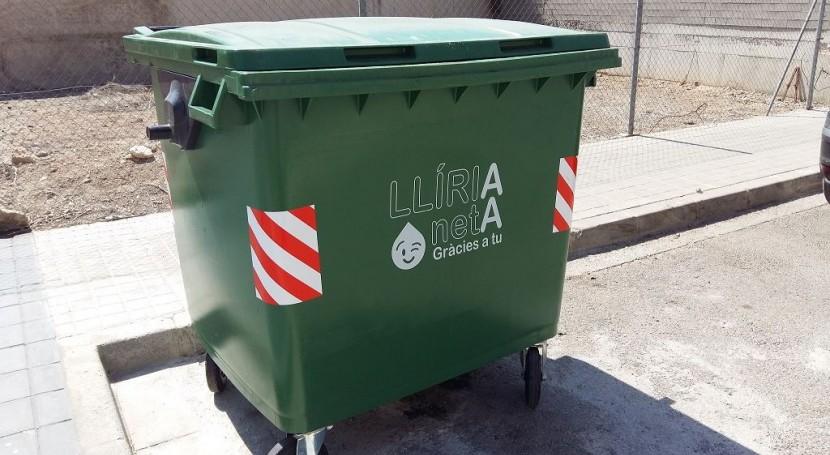 Llíria renueva contenedores basura 300 nuevas unidades