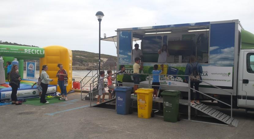 bañistas varias playas pontevedresas recibirán visita campaña reciclaje gallega