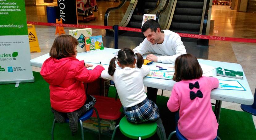 centros comerciales Ramallosa Nigrán y Gran Vía Vigo acogen actividades reciclaje