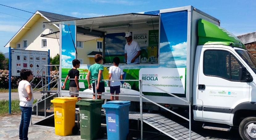 """campaña reciclaje """"Oportunidades Galicia"""" prosigue viaje municipios coruñeses"""