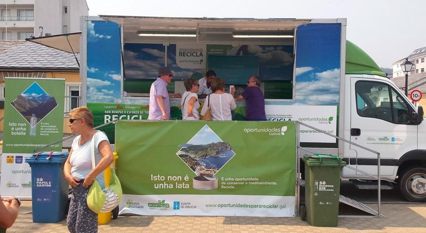 """Bueu y Cerdedo, próximos destinos campaña reciclaje """"Oportunidades Galicia"""""""