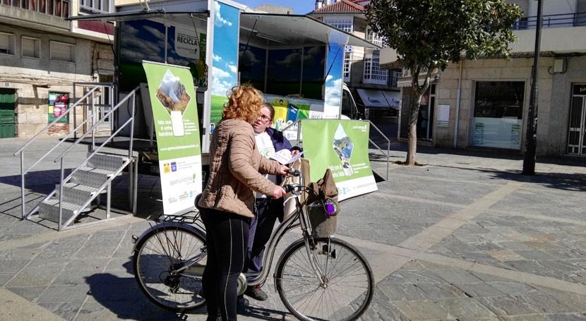 """reciclaje llega Sanxenxo aula móvil campaña itinerante """"Oportunidades Galicia"""""""