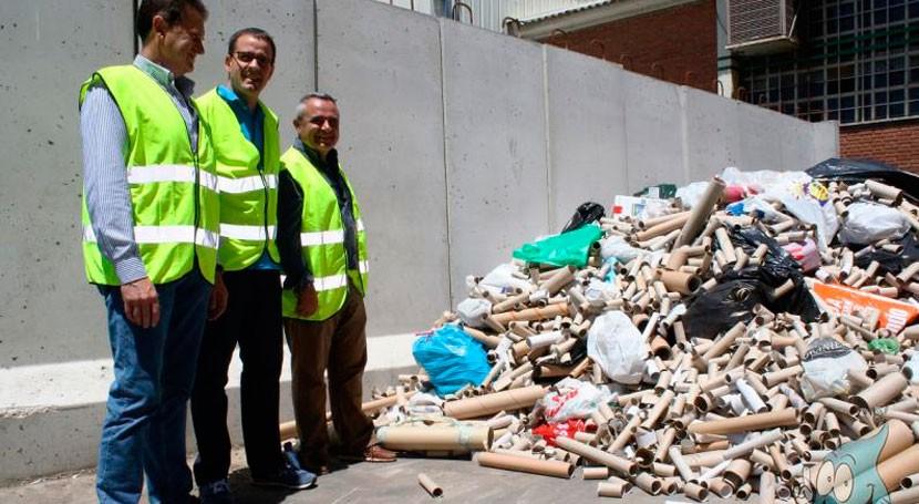 Aguas Sorbe recicla 50.000 rollos cartón recogidos colegios durante curso
