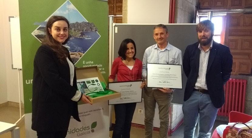 Galicia encuentra arte instrumento buenas prácticas ambientales como reciclaje