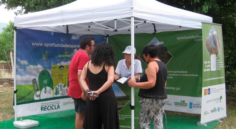 Varios municipios ourensanos reciben visita campaña gallega reciclaje