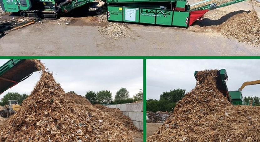 Planta reciclaje: Triturador y criba estrellas