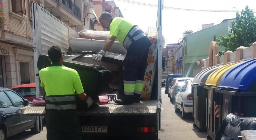 Las nuevas tecnolog as refuerzan la campa a de recogida de residuos voluminosos de alcira - Recogida de muebles ayuntamiento de madrid ...