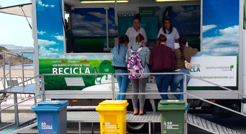 concienciación reciclaje llega 9 municipios coruñeses