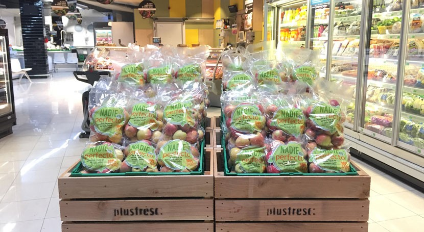 Nadie es perfecto: Manzanas fuji desperfectos desperdicio alimentario