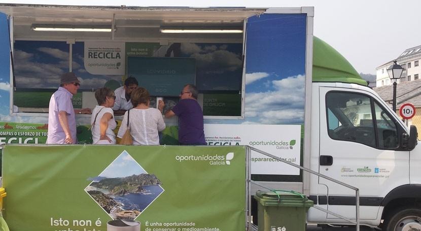 """""""Oportunidades Galicia"""" viaja Allariz enseñar al vecindario reciclar más y mejor"""