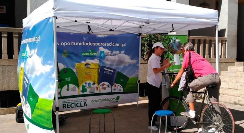 10 municipios ourensanos reciben visita campaña reciclaje